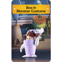 Boo in Monster Costume