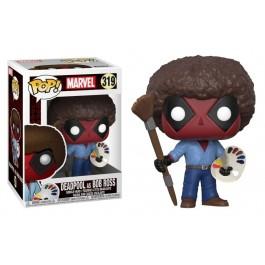 Funko Deadpool as Bob Ross