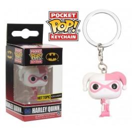 Funko Keychain Harley Quinn Pink Hearts