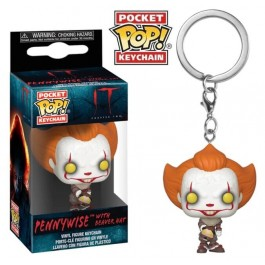Funko Keychain Pennywise with Beaver Hat