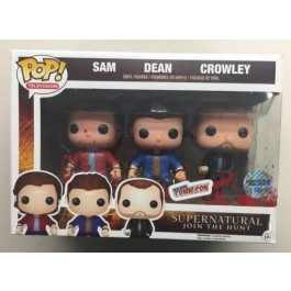 Funko Metallic Bloody Sam, Dean & Crowley