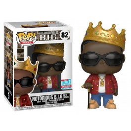 Funko Notorious B.I.G. with Crown Red Jacket