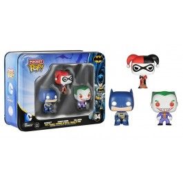 Funko Pocket Batman, Joker & Harley Quinn