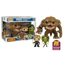 Funko Rancor with Luke & Slave Oola