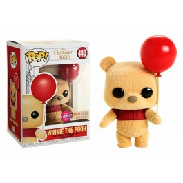 Funko Flocked Winnie the Pooh with Red Balloon