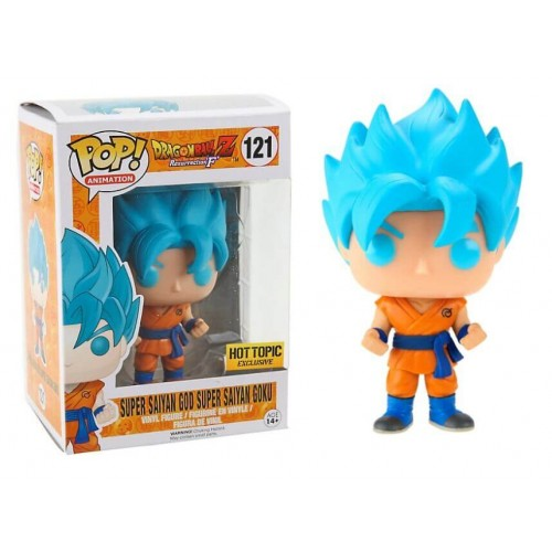 funko mania funko super saiyan god super saiyan goku dragonball z hot topic exclusive anime. Black Bedroom Furniture Sets. Home Design Ideas