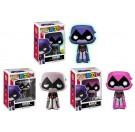 Funko Raven Purple GITD, Gray & Pink
